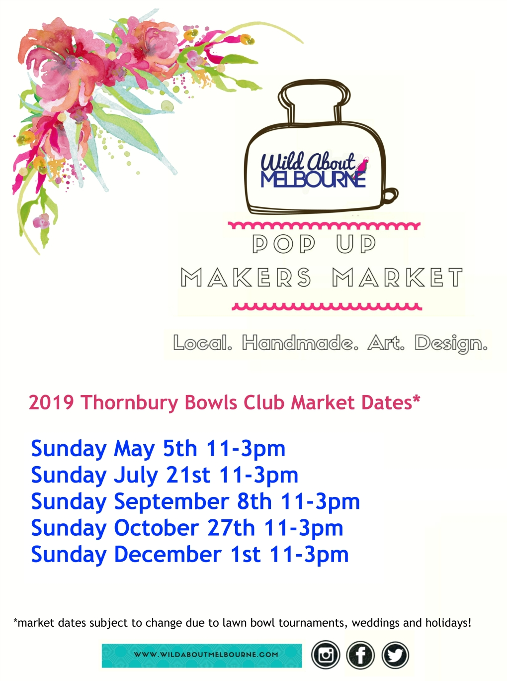 2019 Market Dates