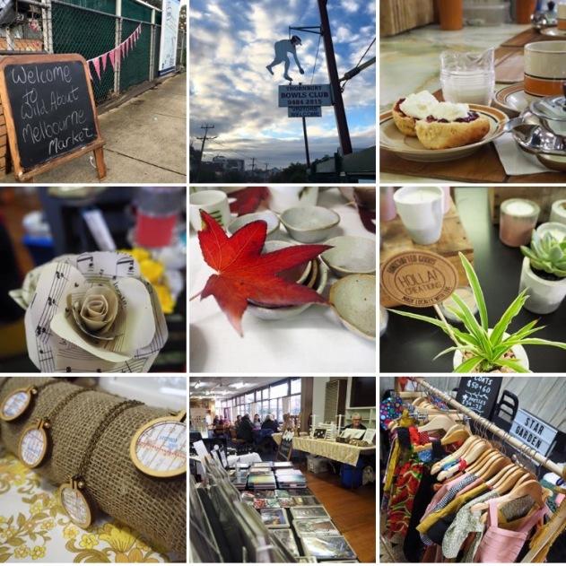 WAM Pop Up Makers Market Thornbury Bowls CLub 2016 collage