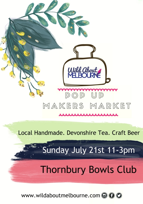 WAM Pop Up Market 21 July poster